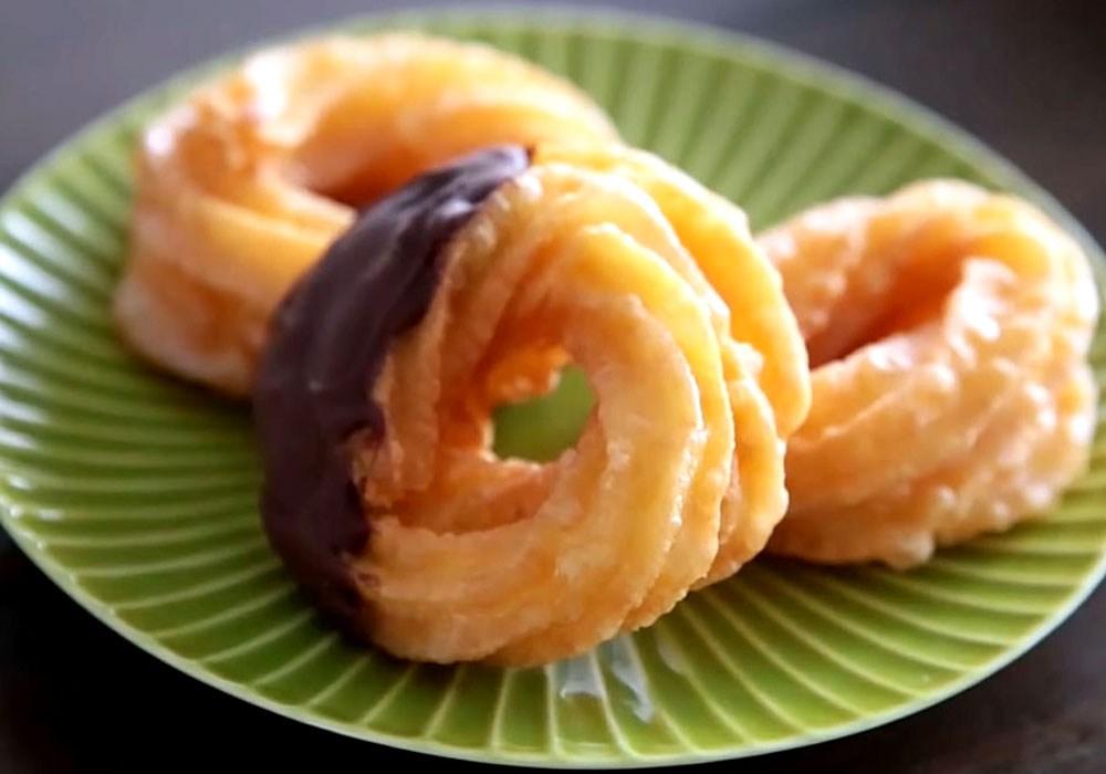 Американські пончики (донати), покриті шоколадом - покроковий рецепт, фото 1