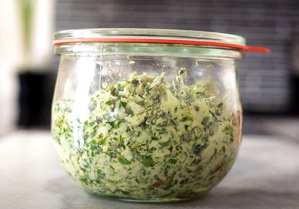 Ароматне масло з травами і часником - покроковий рецепт, фото 1
