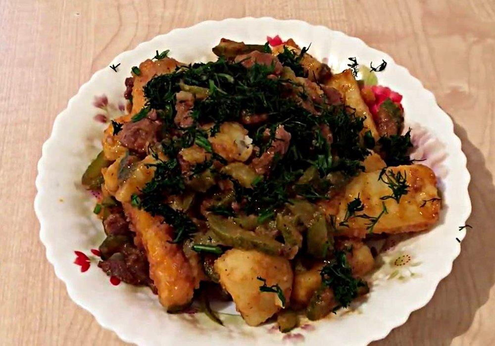 Азу из говядины с солеными огурцами - пошаговый рецепт, фото 1