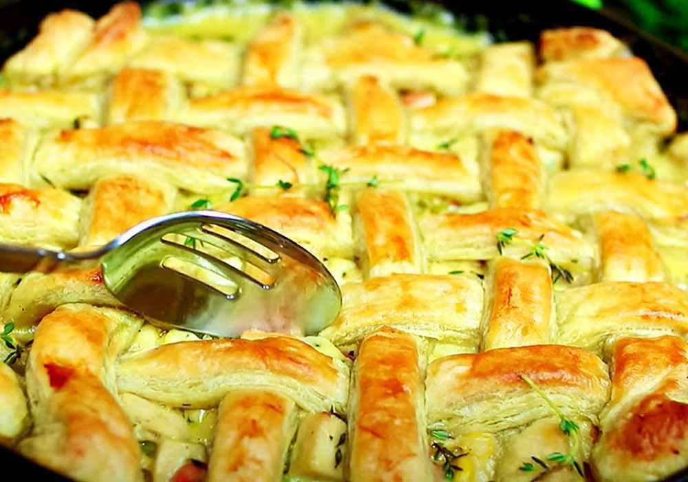 Бабушкин пирог с курицей «Туды-сюды» - пошаговый рецепт, фото 1