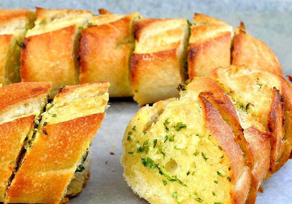 Багет с чесноком - пошаговый рецепт, фото 1