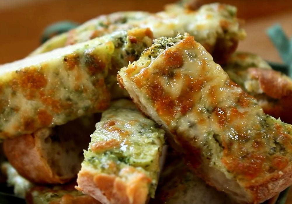 Багет с сыром и зеленью - пошаговый рецепт, фото 1
