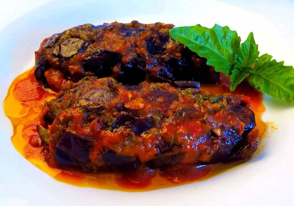 Баклажаны с фаршем (в духовке) - пошаговый рецепт, фото 1