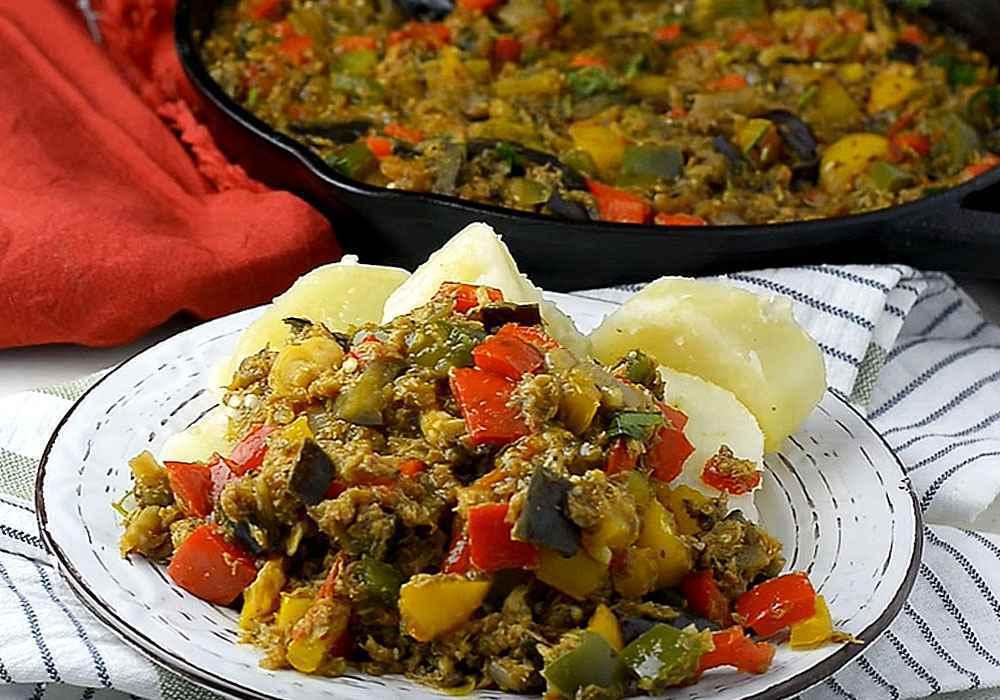 Баклажани тушковані з овочами швидко і просто - покроковий рецепт, фото 1