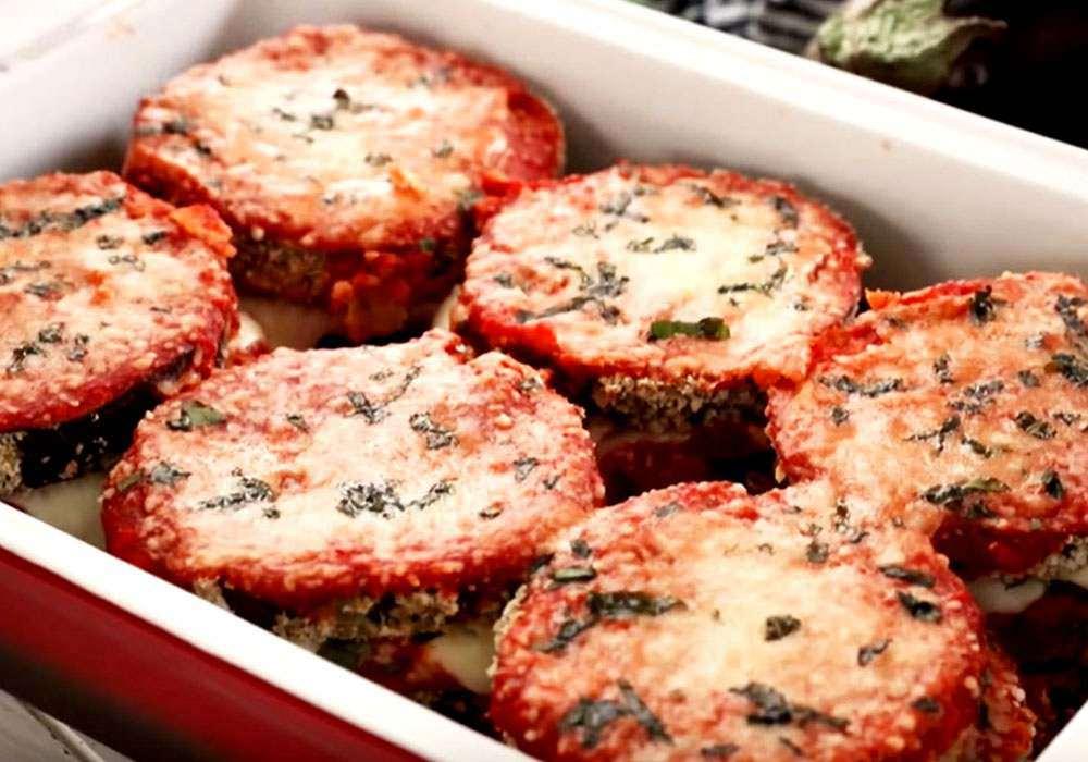 Баклажани, запечені з сиром і часником в духовці - покроковий рецепт, фото 1