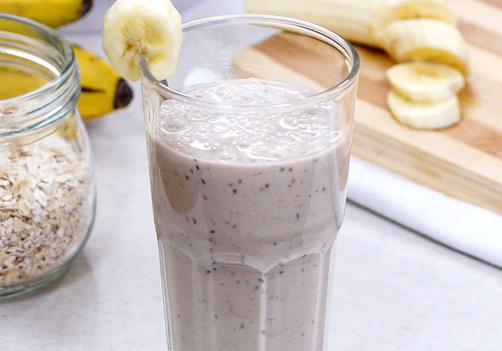 Банановий смузі з вівсянкою - покроковий рецепт, фото 1