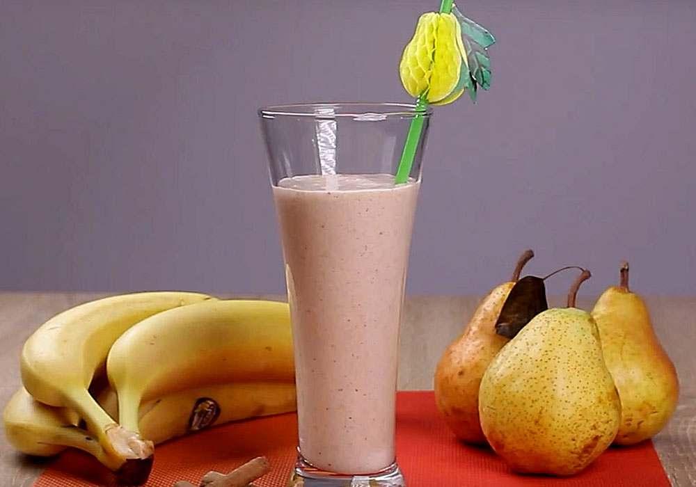 Бананово-грушевий смузі - покроковий рецепт, фото 1