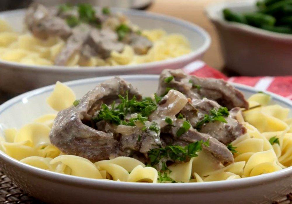 Бефстроганов из говядины со сметаной - пошаговый рецепт, фото 1
