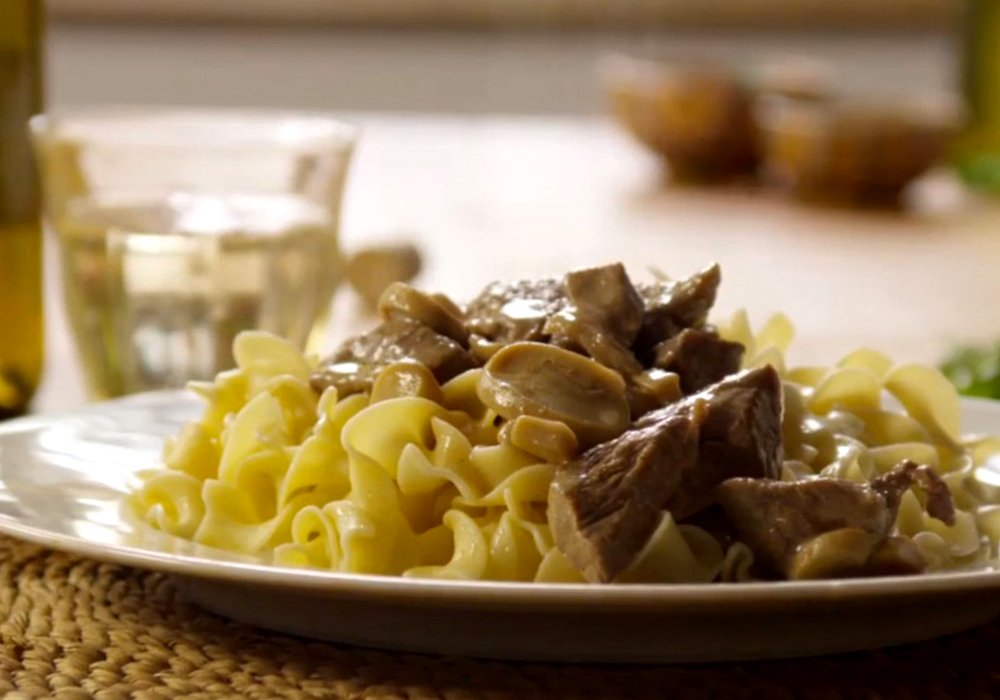 Бефстроганов з телятини - покроковий рецепт, фото 1