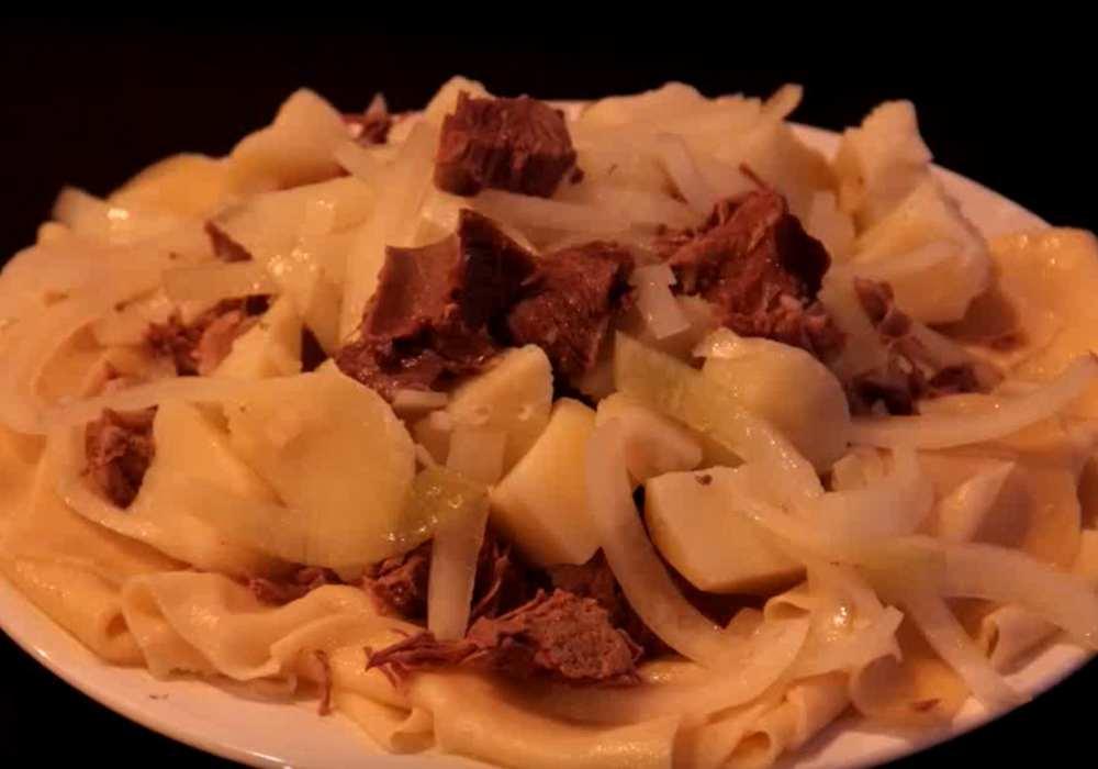 Бешбармак з картоплею - покроковий рецепт, фото 1