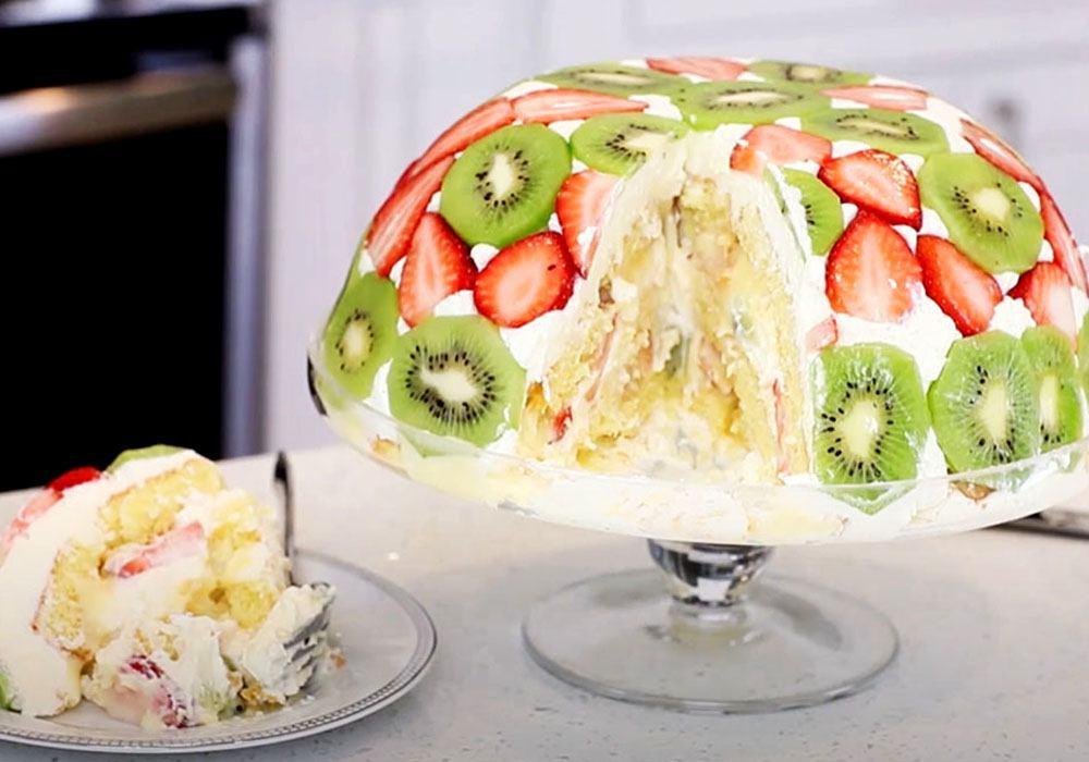 Бисквитный торт с киви - пошаговый рецепт, фото 1