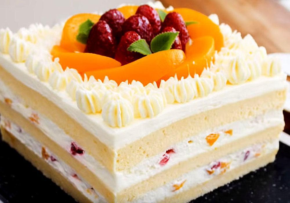 Бисквитный торт - пошаговый рецепт, фото 1