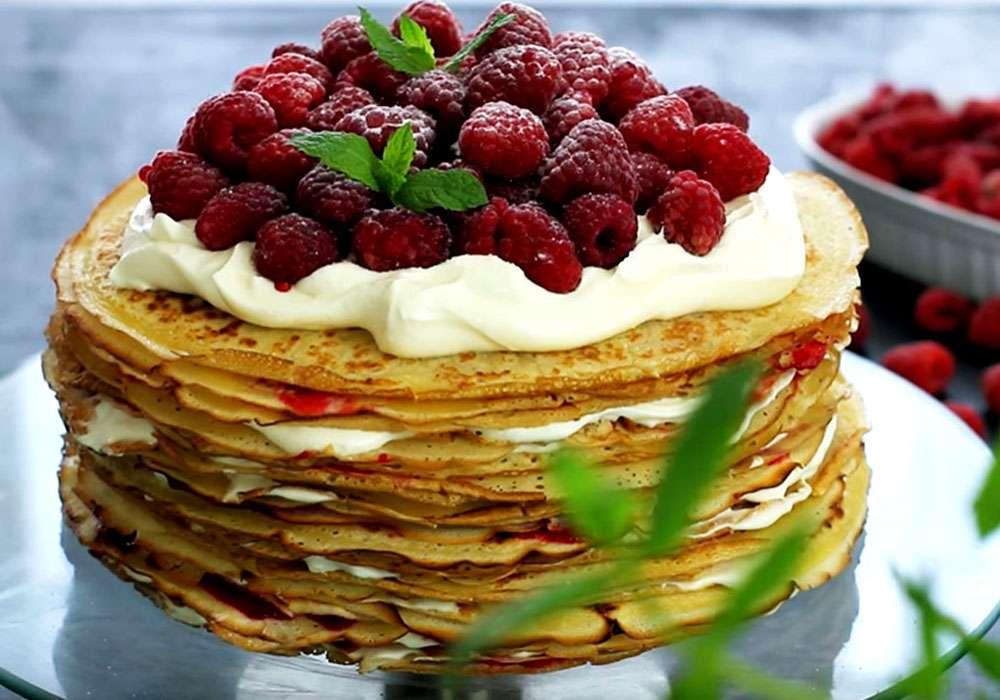 Млинцевий торт зі сметанним кремом - покроковий рецепт, фото 1