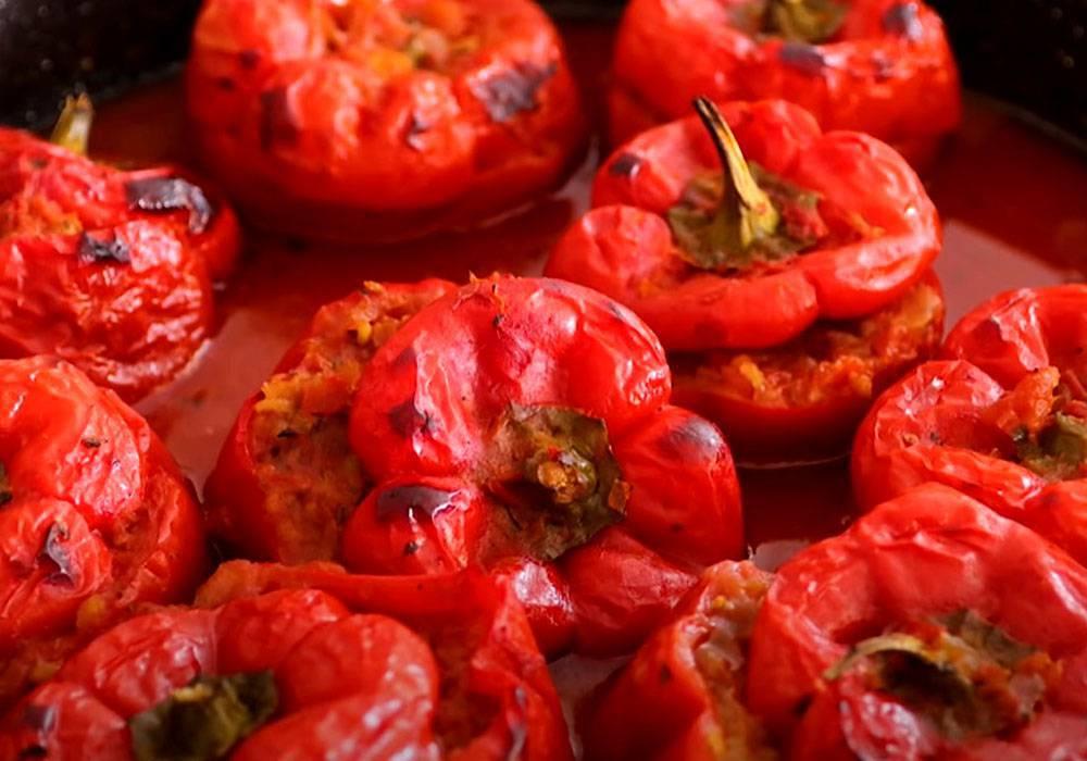 Болгарский перец, фаршированный мясом и рисом - пошаговый рецепт, фото 1