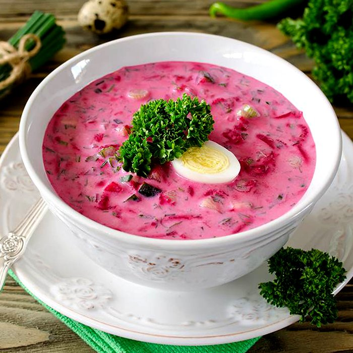 Холодный борщ из маринованной свеклы - пошаговый рецепт, фото 1