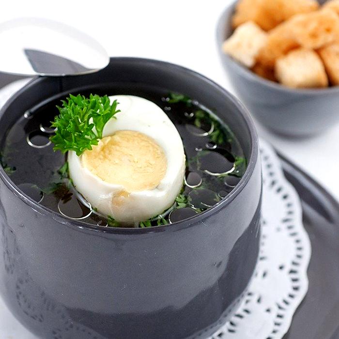Бульйон з яйцем - покроковий рецепт, фото 1