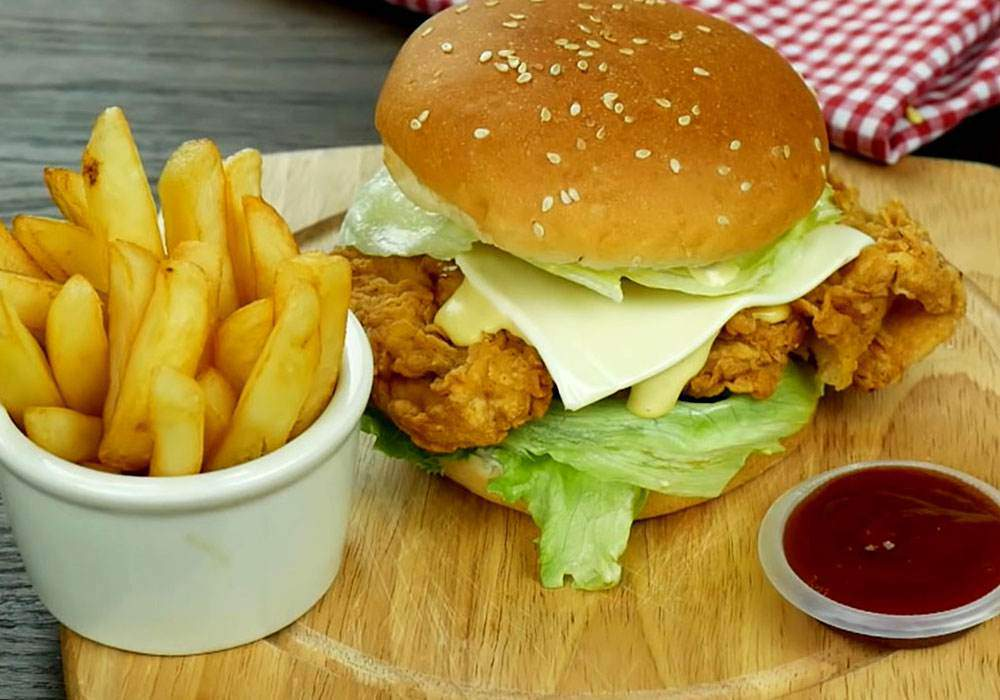Бургер с курицей - пошаговый рецепт, фото 1