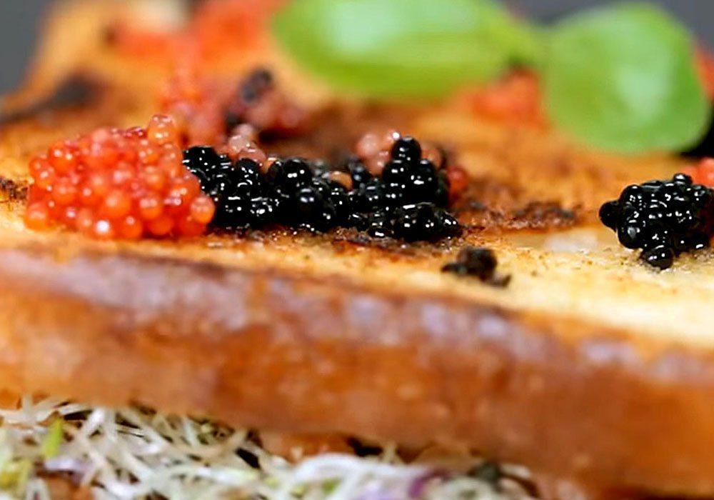 Бутерброд с икрой - пошаговый рецепт, фото 1