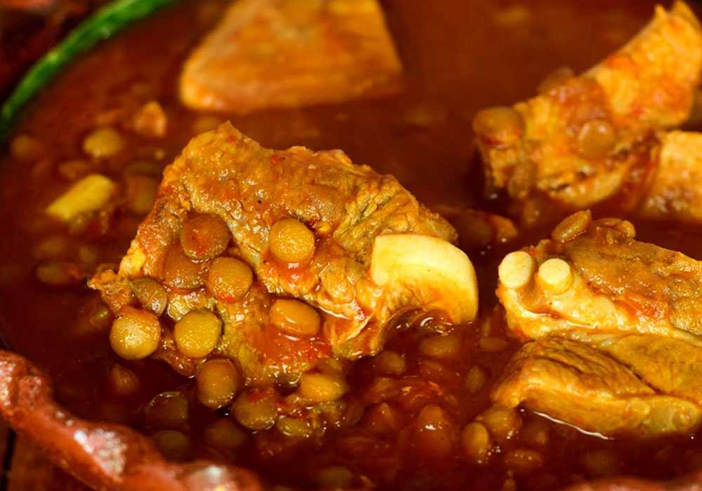 Чечевица с мясом - пошаговый рецепт, фото 1