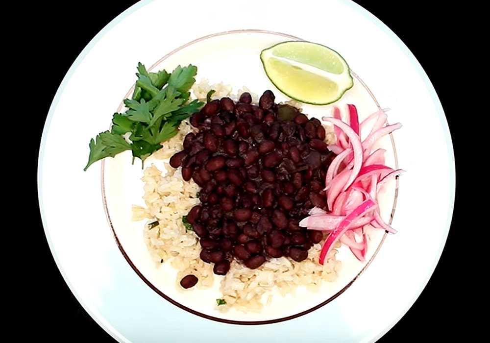 Черные бобы с рисом - пошаговый рецепт, фото 1