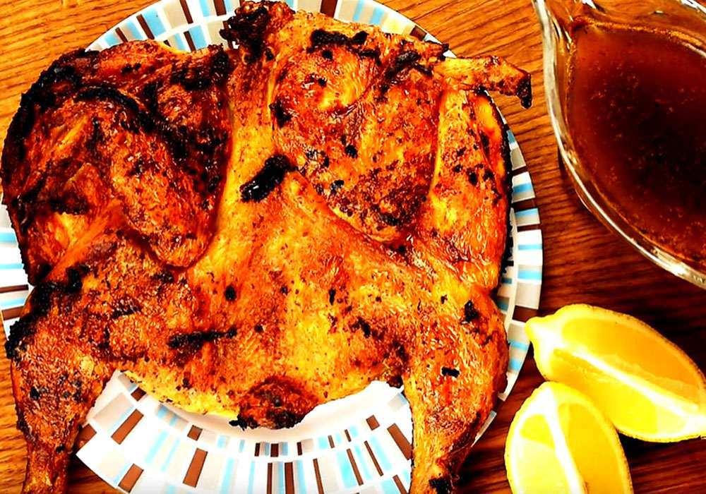 Цыпленок табака на сковороде под прессом - пошаговый рецепт, фото 1