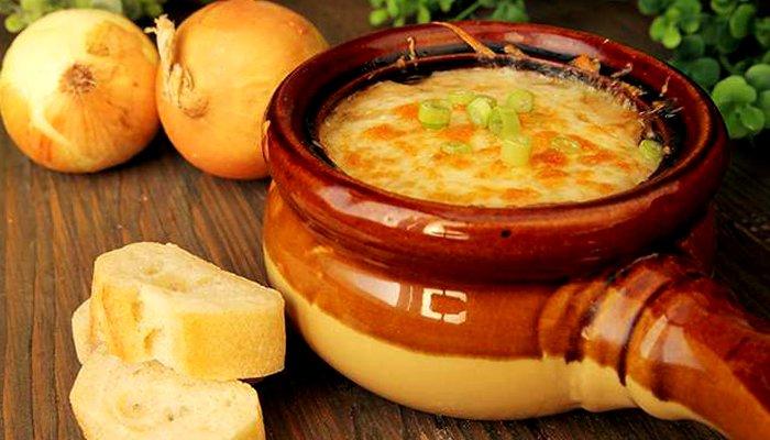 Луковый суп с сыром - пошаговый рецепт, фото 1