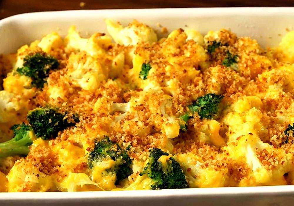 Цветная капуста, запеченная с сыром или брынзой - пошаговый рецепт, фото 1