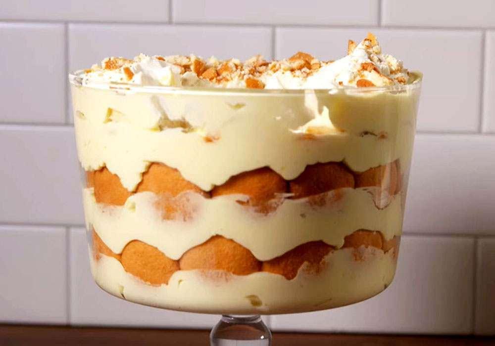 Десерт из пудинга и печенья с бананами - пошаговый рецепт, фото 1