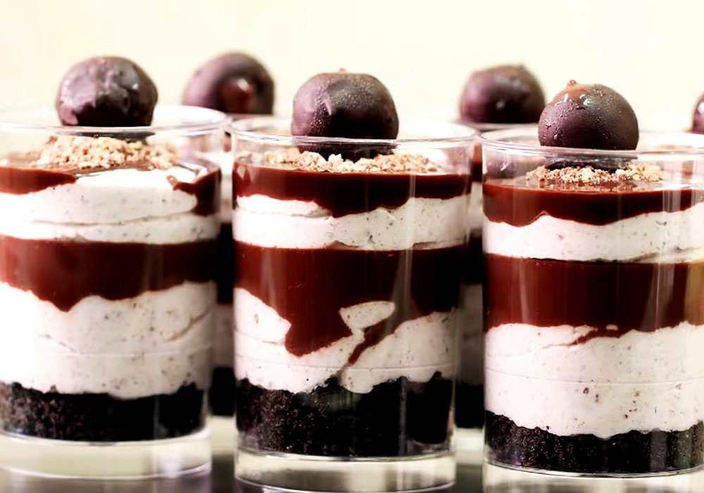 Десерт в стакане слоями - пошаговый рецепт, фото 1