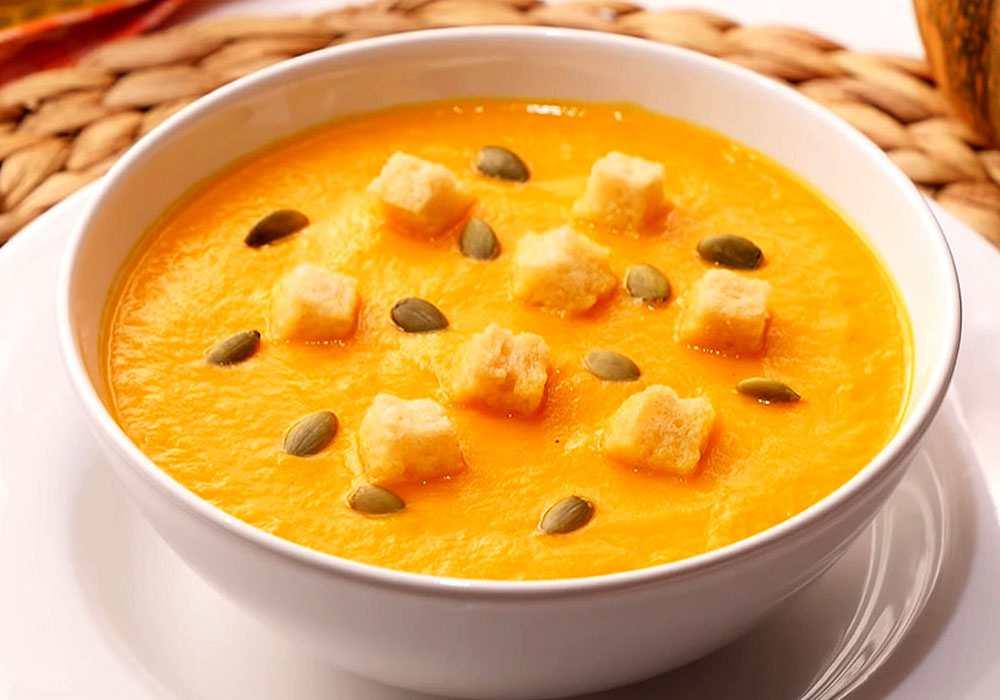 Диетический суп-пюре из тыквы - пошаговый рецепт, фото 1