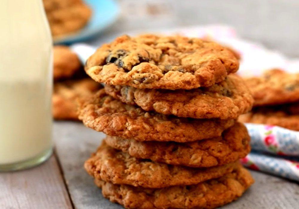 Диетическое печенье из овсяных хлопьев - пошаговый рецепт, фото 1