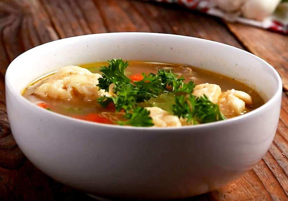 Домашний суп с галушками - пошаговый рецепт, фото 1