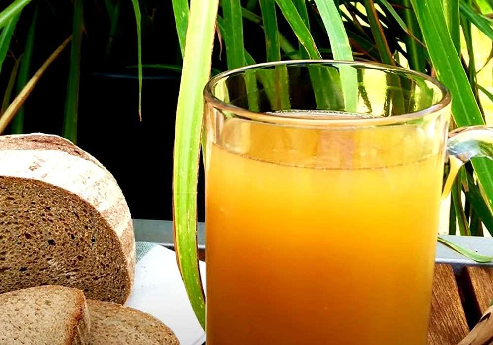 Домашний квас из ржаного черного хлеба - пошаговый рецепт, фото 1