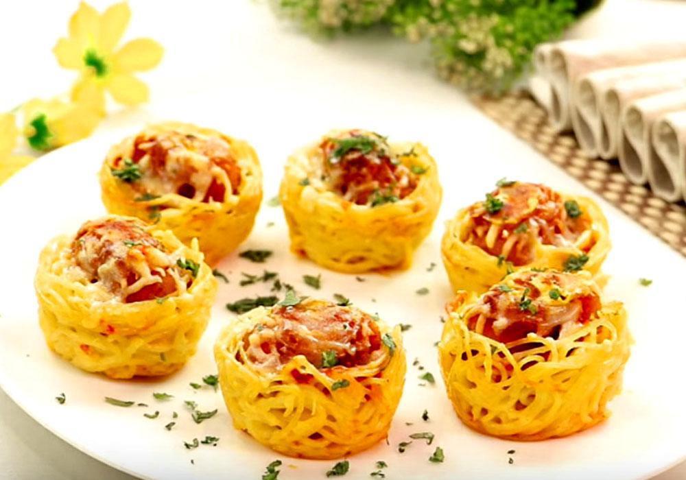 Фаршированные макароны «гнезда» - пошаговый рецепт, фото 1