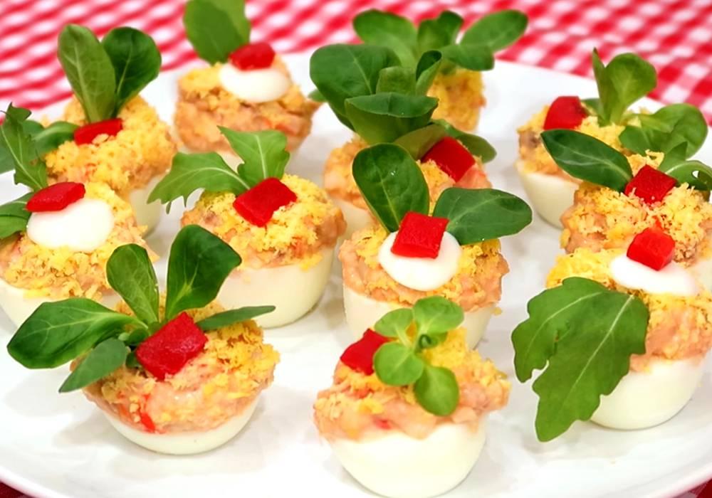 Фаршированные яйца с сардиной - пошаговый рецепт, фото 1
