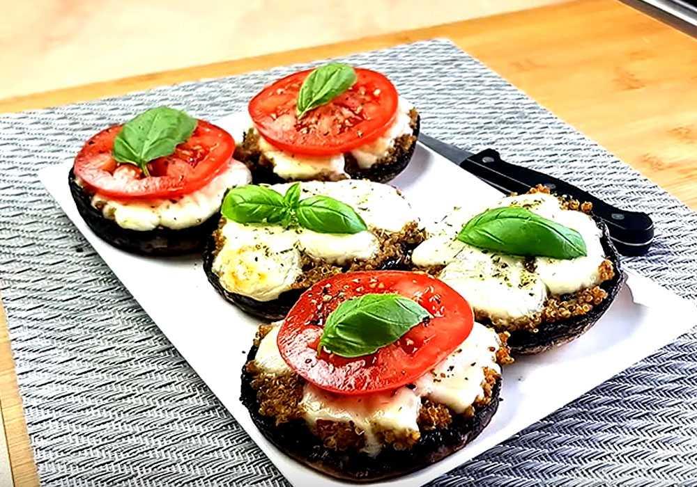 Фаршированные шампиньоны с сыром - пошаговый рецепт, фото 1