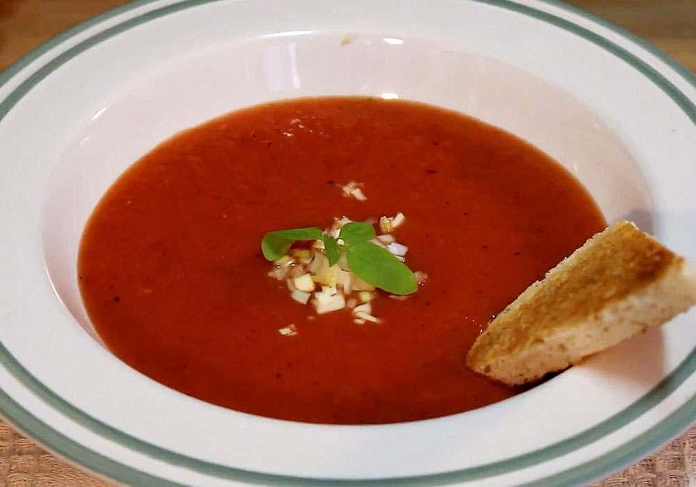 Фруктовый суп из арбуза - пошаговый рецепт, фото 1
