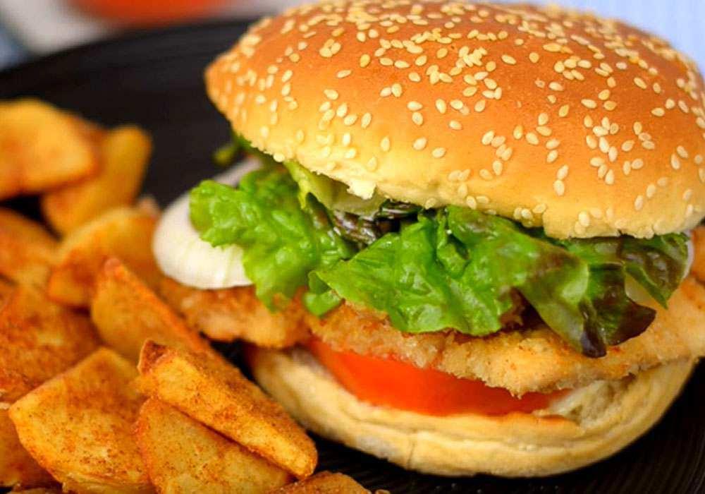 Гамбургер з куркою - покроковий рецепт, фото 1