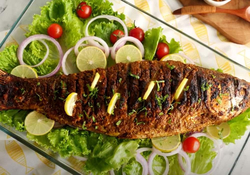 Жареная рыба на гриле в остром маринаде - пошаговый рецепт, фото 1
