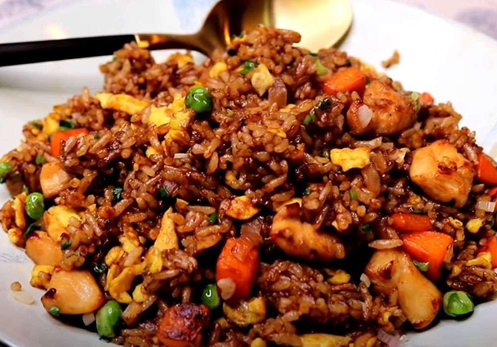 Жареный рис с мясом - пошаговый рецепт, фото 1