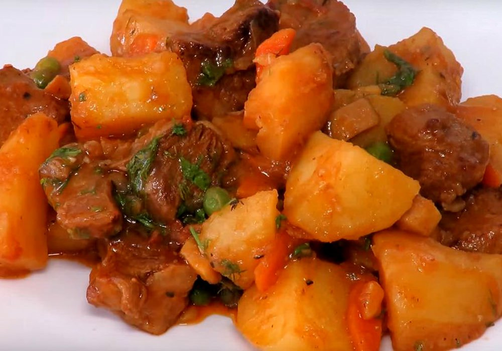 Печеня із яловичини з картоплею - покроковий рецепт, фото 1