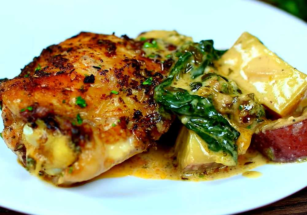 Жаркое из курицы со шпинатом - пошаговый рецепт, фото 1