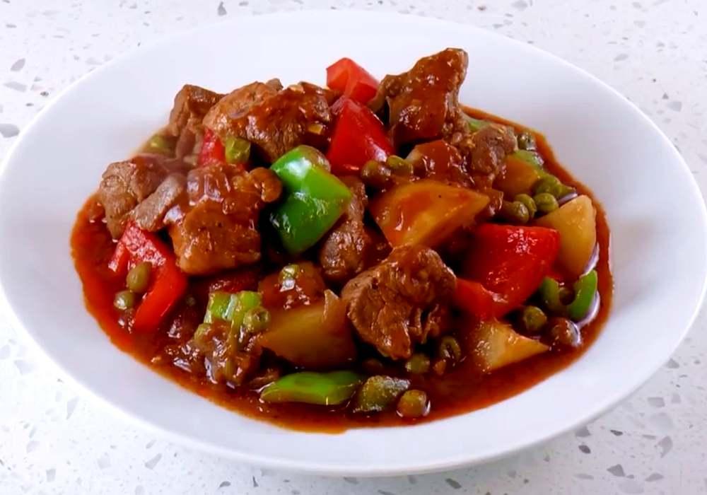Жаркое из свинины с картофелем - пошаговый рецепт, фото 1