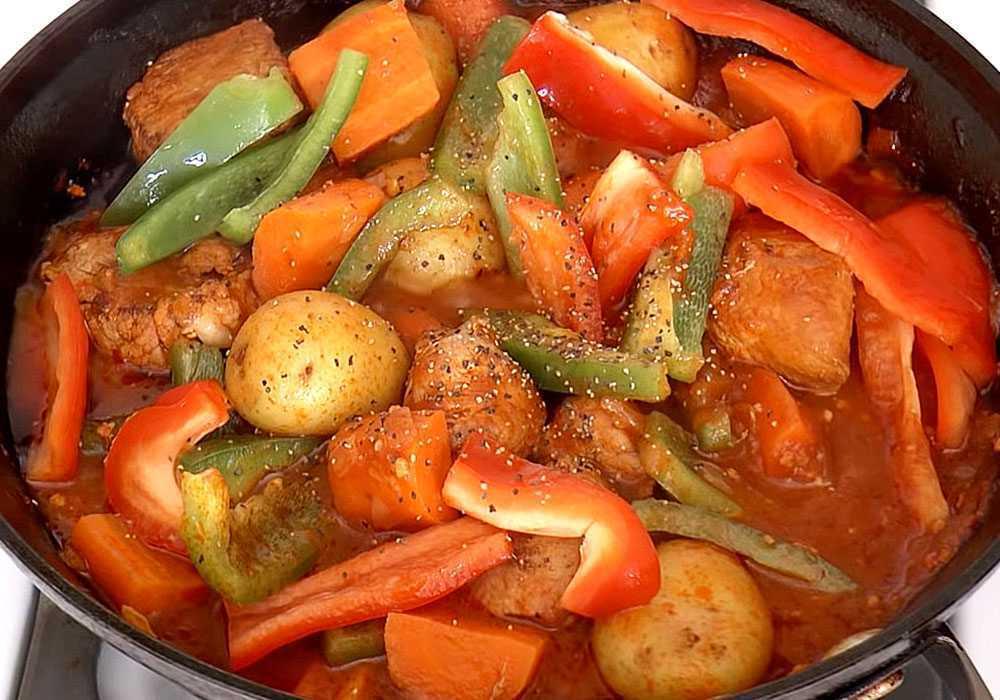 Жаркое в сковороде - пошаговый рецепт, фото 1