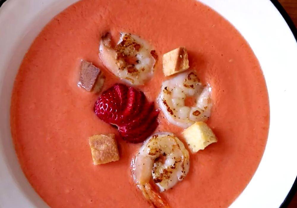 Гаспачо с креветками - пошаговый рецепт, фото 1