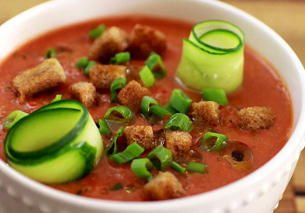 Гаспачо томатный холодный суп классический - пошаговый рецепт, фото 1