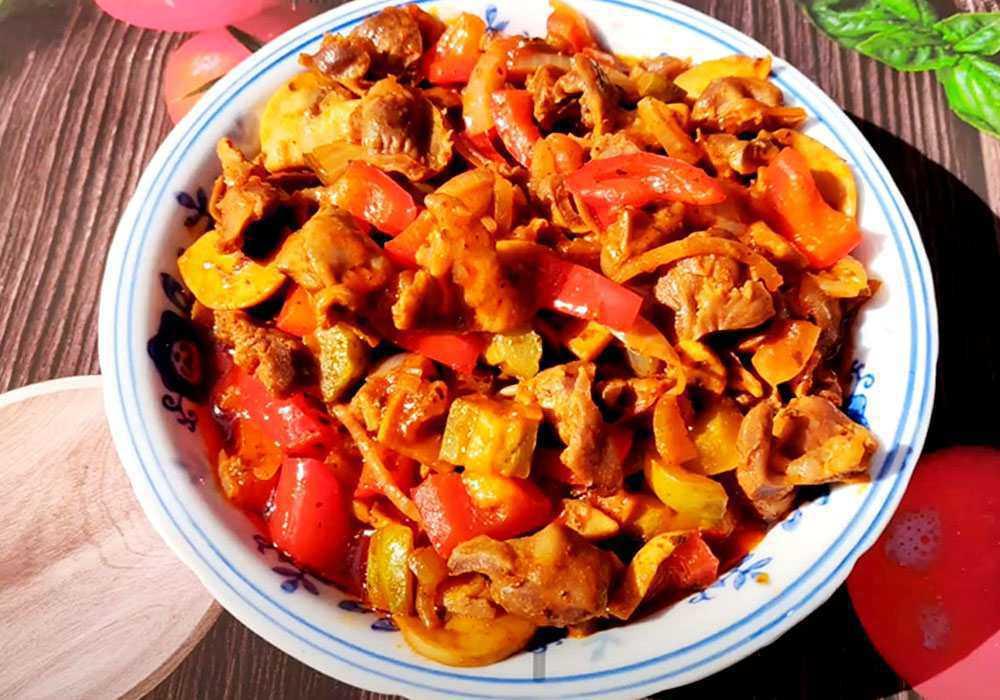 Шлунки курячі по-грузинськи - покроковий рецепт, фото 1