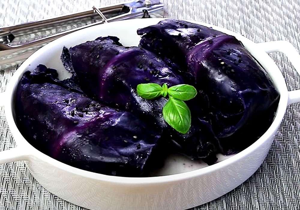 Голубцы из красной капусты - пошаговый рецепт, фото 1