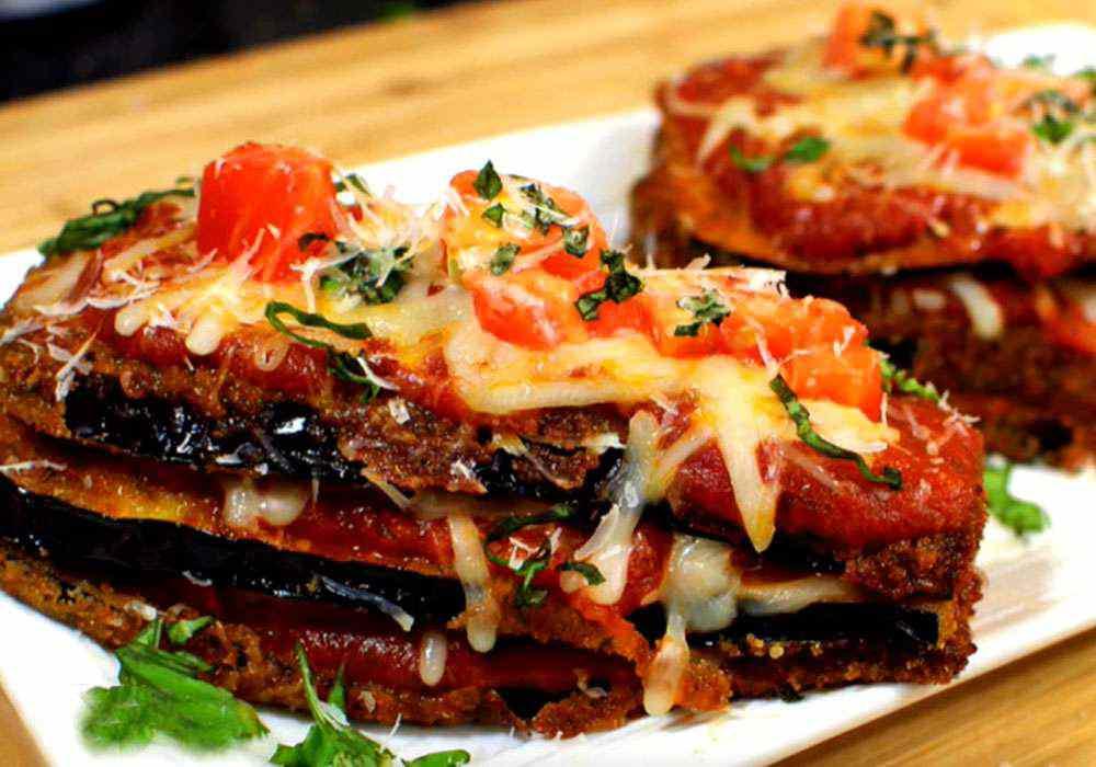 Горячая закуска из баклажанов и помидоров под сыром - пошаговый рецепт, фото 1