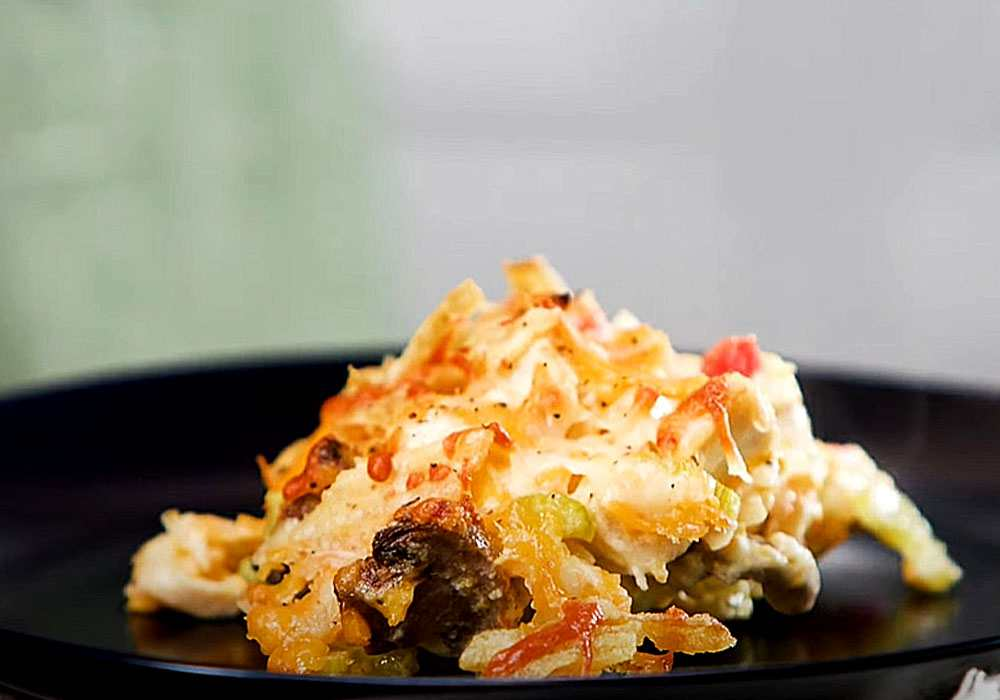 Горячий салат с курицей - пошаговый рецепт, фото 1